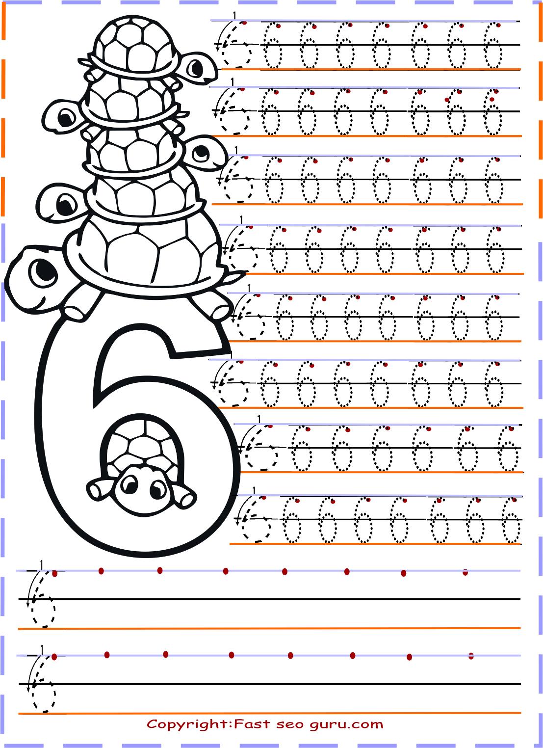 Bir Dunya Zeynep Number Tracing Worksheets Say