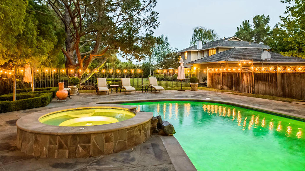 Be creative add a personal creative touch to your backyard maybe walkways paved with colored glass designs or distinctive pavers outdoor artpossibly a