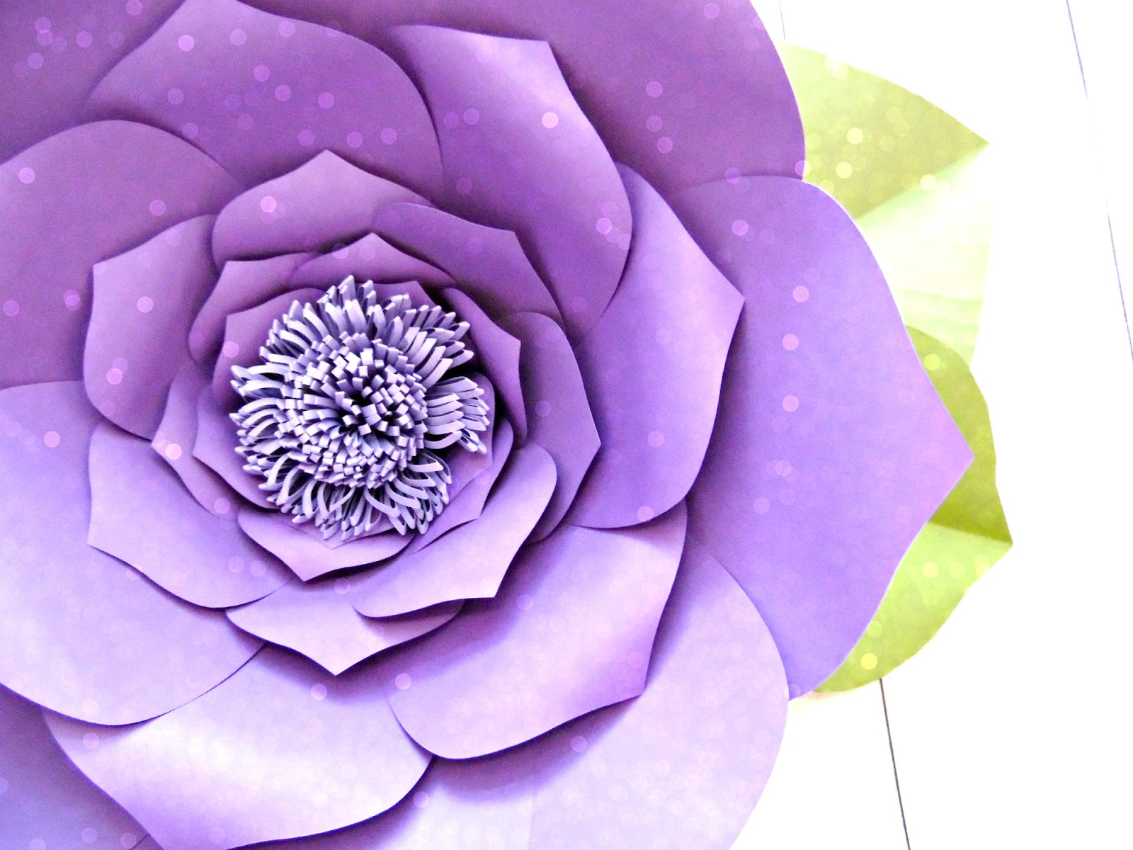 big flower paper template - easy method when building any diy giant paper flower