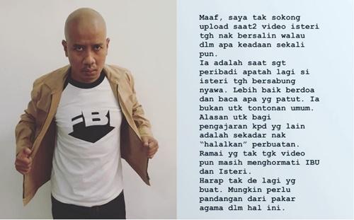 """Maaf, saya tak sokong upload video saat-saat isteri nak bersalin.""- Faizal Ismail"