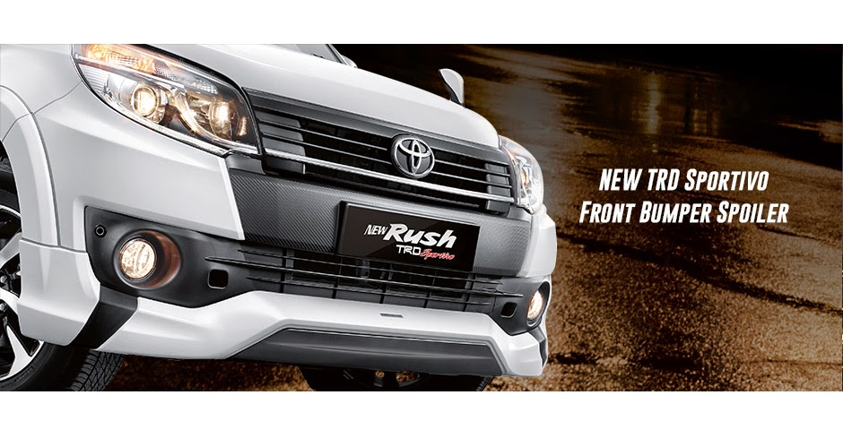 new-rush trd front bumper