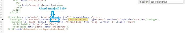 Cara Menghapus Widget yang Awalnya Tidak Bisa Dihapus di Template Blogspot Gratisan