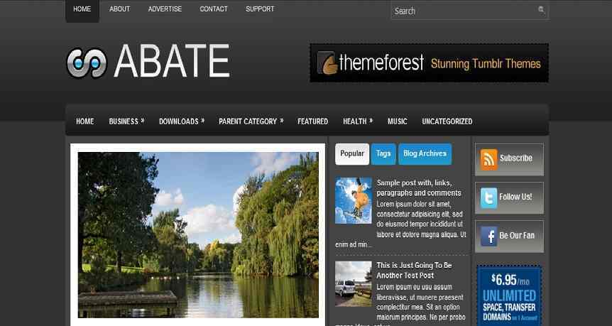 Abate - Blogger Template