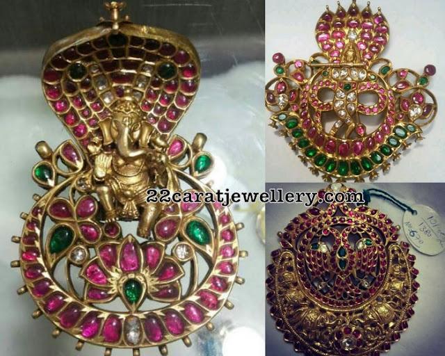 Gemstones Krishna Naga Pendant Sets