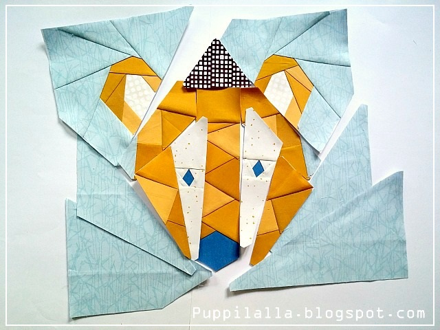 Foundation Paper Piecing, Barmy Bear, Unicornharts, Puppilalla, Pattern Testing, Patchwork, Quilting