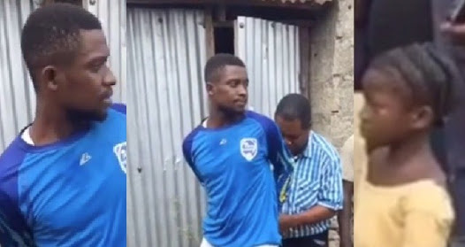 "Image result for Young man arrested while trying to kidnap a little girl for ritual purpose, says ""baba"" asked him to bring a little girl. (Video)"
