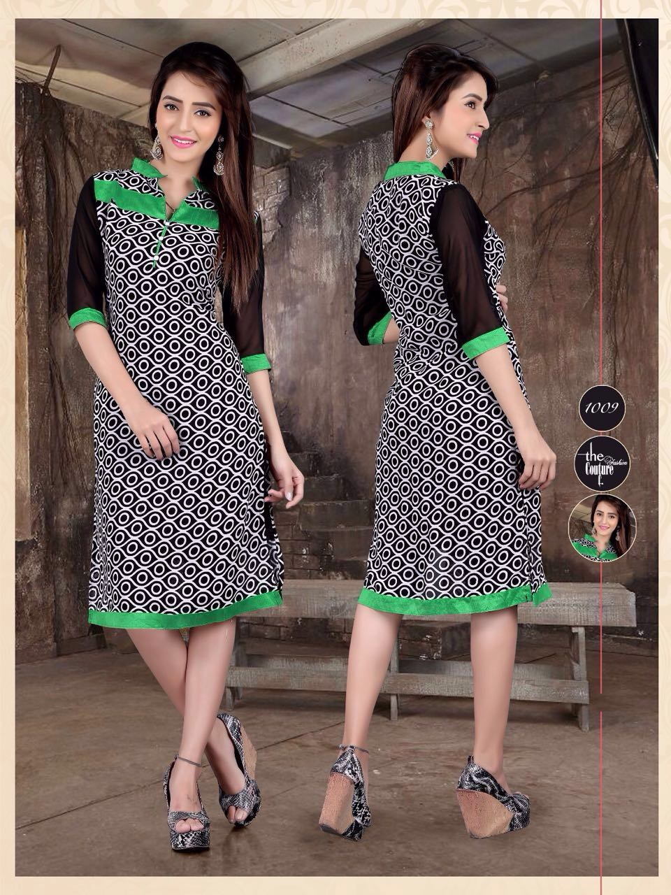 Black Beauty-Latest Designer Chiffon Georgette  Kurti online
