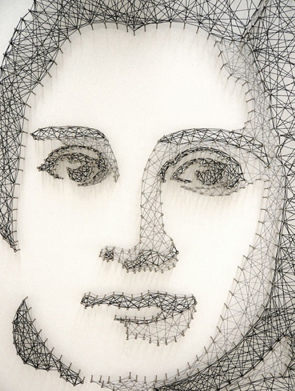 Портреты из ниток. Памела Кампаньи (Pamela Campagna) 11
