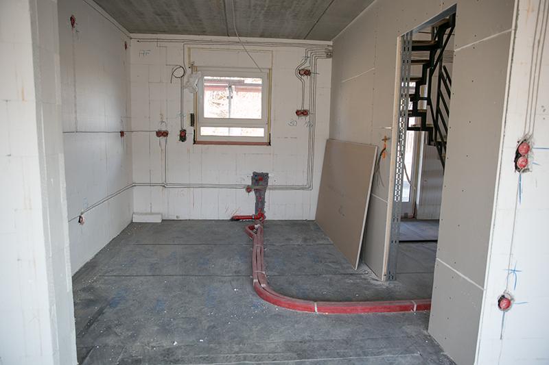 unsere erfahrungen mit kern haus die aufteilung der r ume in unserem rohbau. Black Bedroom Furniture Sets. Home Design Ideas