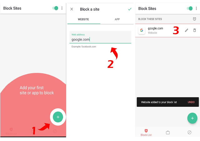 blokir website