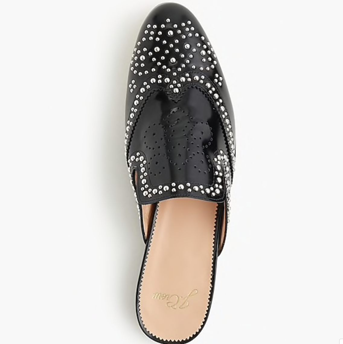 j crew studded academy penny loafer mules