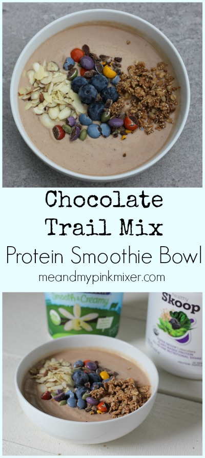 Chocolate Trail Mix Protein Smoothie