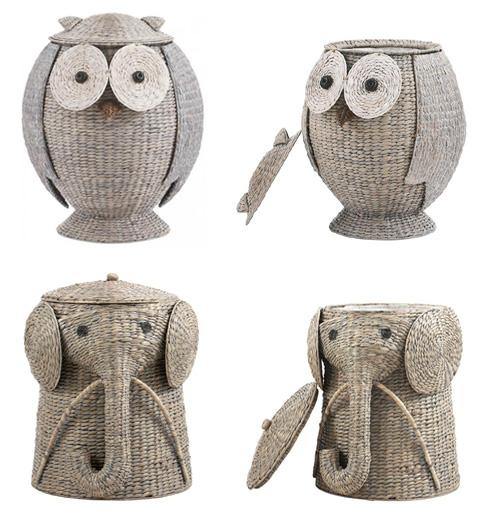 My Owl Barn Rattan Animal Hampers