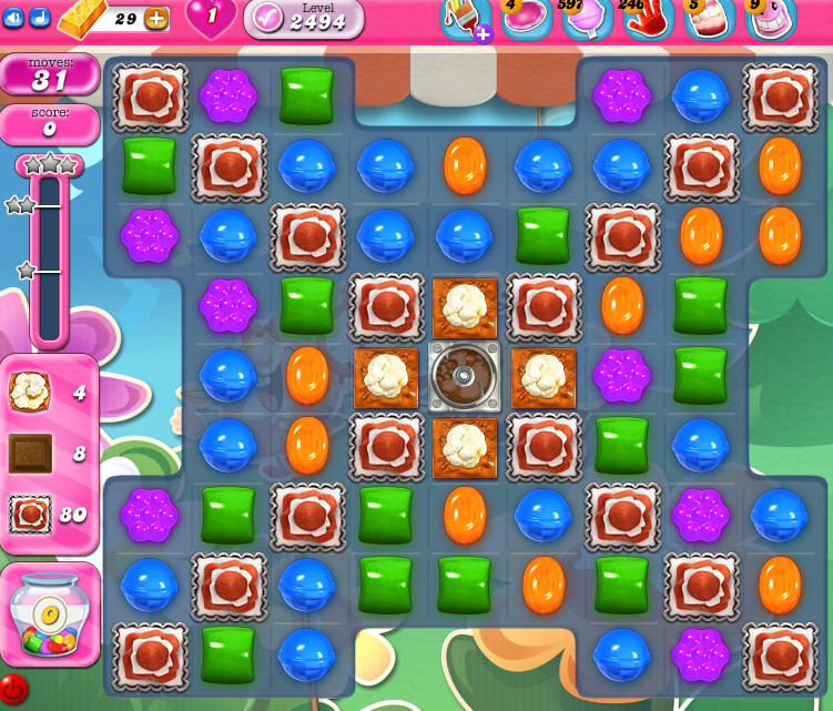 Candy Crush Saga level 2494