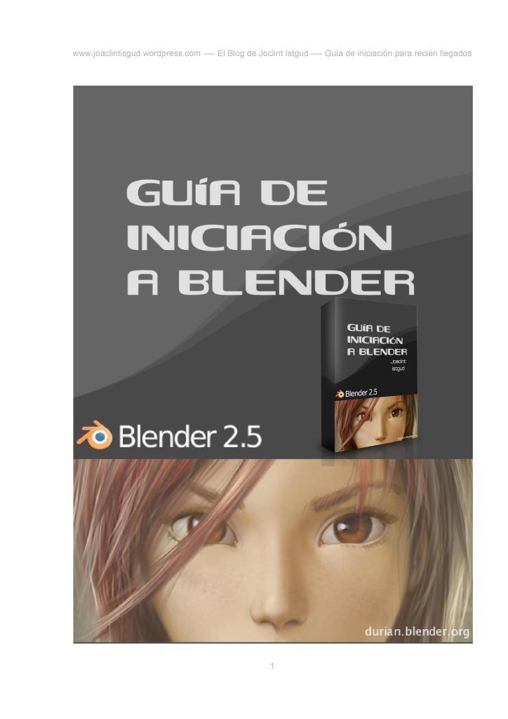 Guía de iniciación a Blender 2.5 – Joacint Istgud