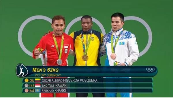 Hasil Final Angkat Besi Olimpiade -58 kg & -62 kg