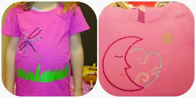 Camisetas DIY Libelula luna