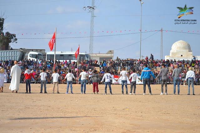 """ملحمة """"سحر عيوني""""  في افتتاح مهرجان الحامة الدولي في دورته الخامسة"""