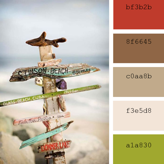 summer scapes soft tones color palettes