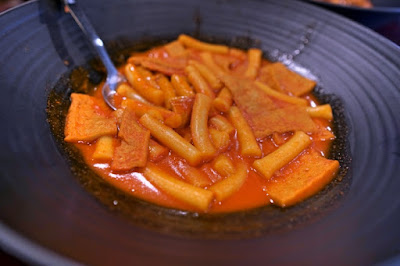 Tteokbooki is a Korean rice cake dish