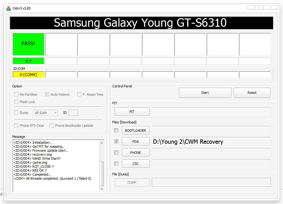 Cara Pasang CWM di Samsung Galaxy GT-S6310