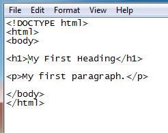 HTML Code Notepad में कैसे लिखे