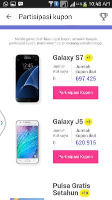 Hadiah Hp Samsung Galaxy dari Cashtree