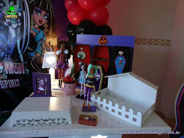 Decoração de aniversário tema Monster High