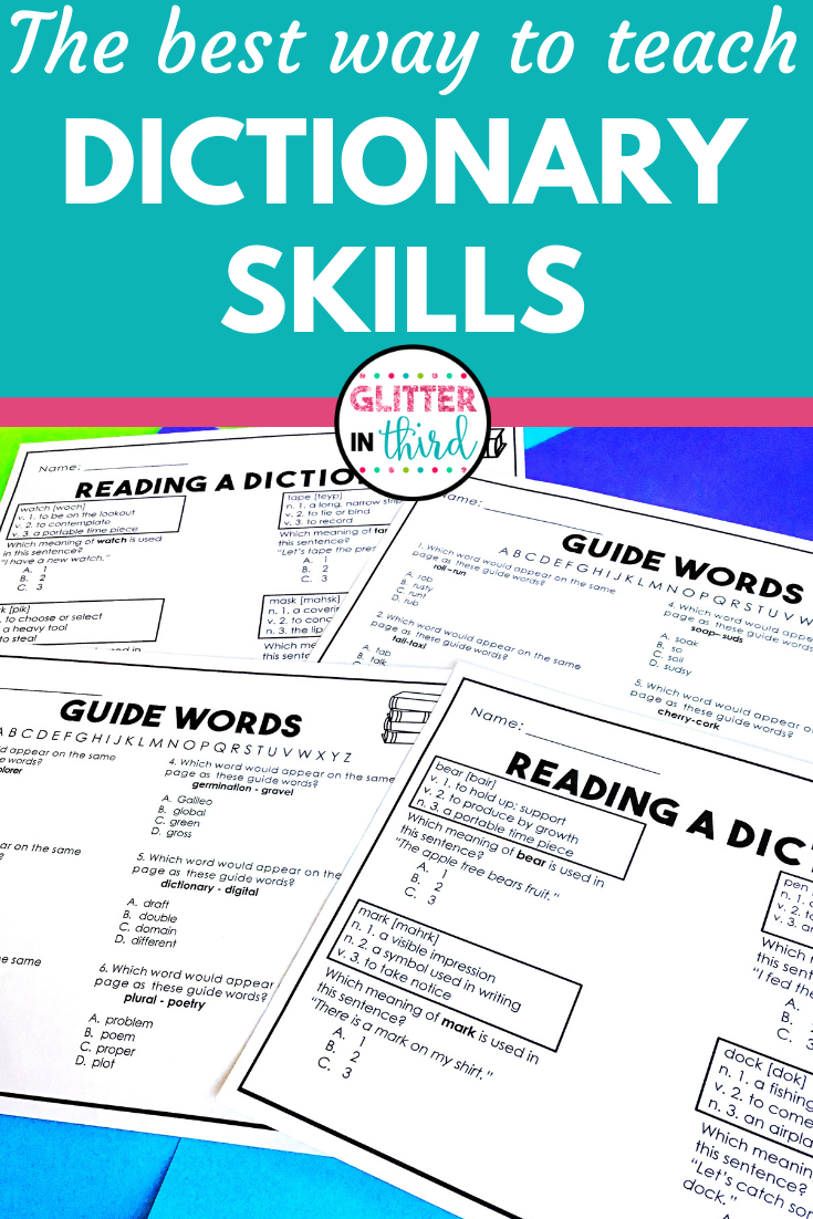 How to Conquer Teaching Dictionary Skills - Glitter in Third [ 1102 x 735 Pixel ]
