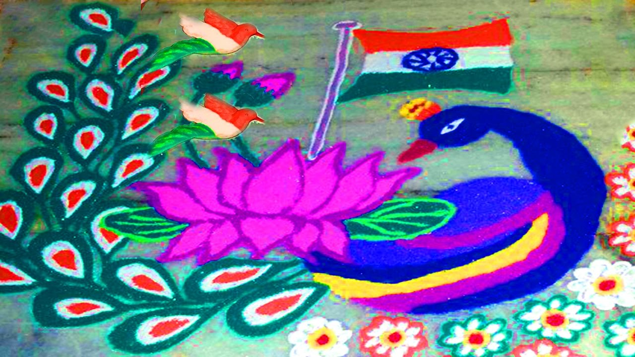 Happy Holi Rangoli Patterns