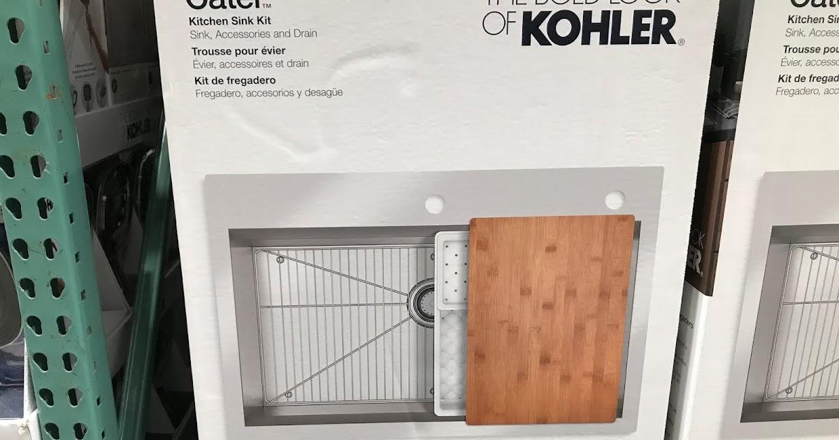 kohler cater stainless steel sink kit
