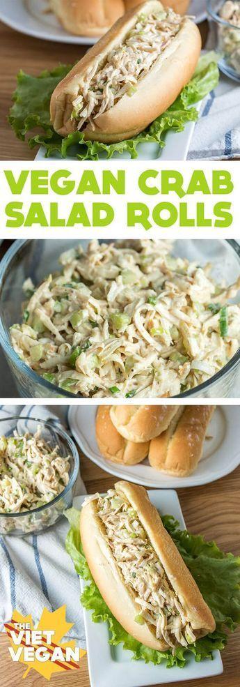 Vegan Crab Salad Rolls