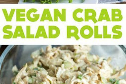 Vegan Crab Salad Rolls