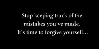 Stop keeping track of the mistakes you've made. It's time to forgive yourself.