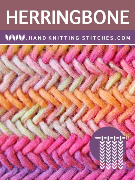 Hand #Knitting Stitches - Herringbone Twist Pattern #knittingpatterns