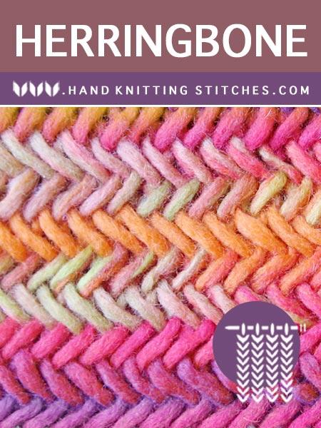 Hand #Knitting Stitches - Herringbone Twist Pattern #knittingpatterns