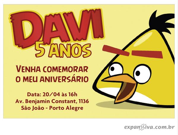 convite angry birds criativo