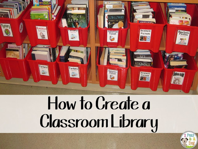 It can be a challenge to create a dynamic and useful classroom library from scratch. Lots of great organization and book acquiring tips in this blog post.