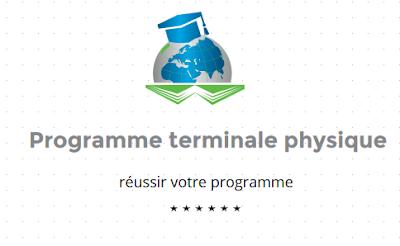 Programme terminale s physique-chimie.