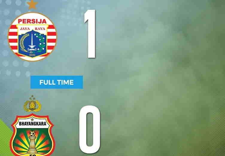 Hasil Persija vs Bhayangkara FC Skor Akhir 1-0   Liga 1 Pekan 18
