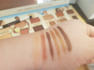 Eyeshadow Palette Nude Beach from theBalm swatches up