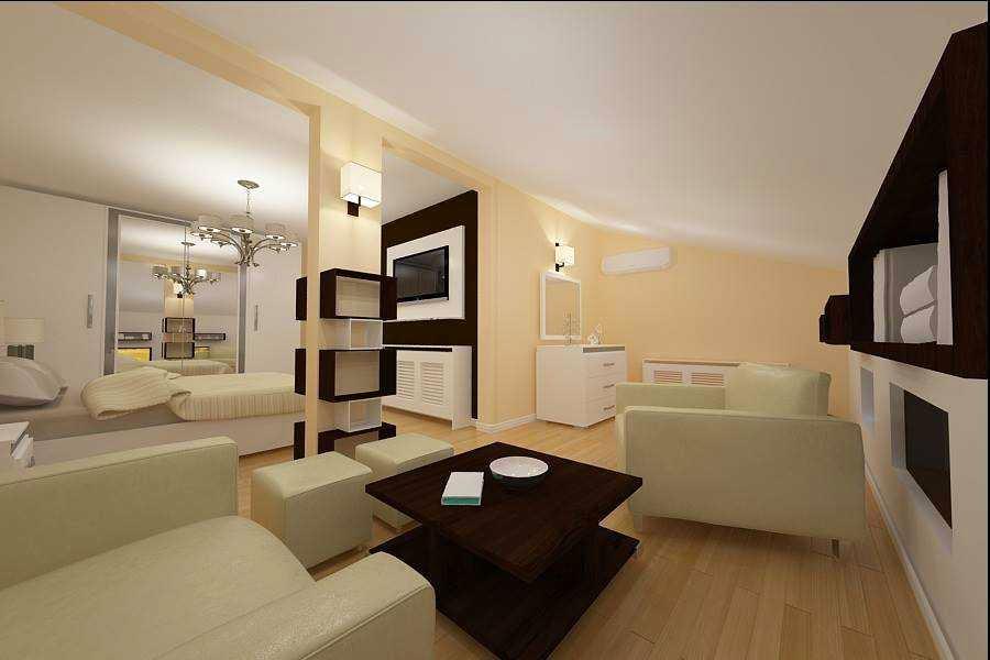 Design interior dormitor casa Constanta - Design Interior / Amenajari interioare > Design interior dormitor mansarda