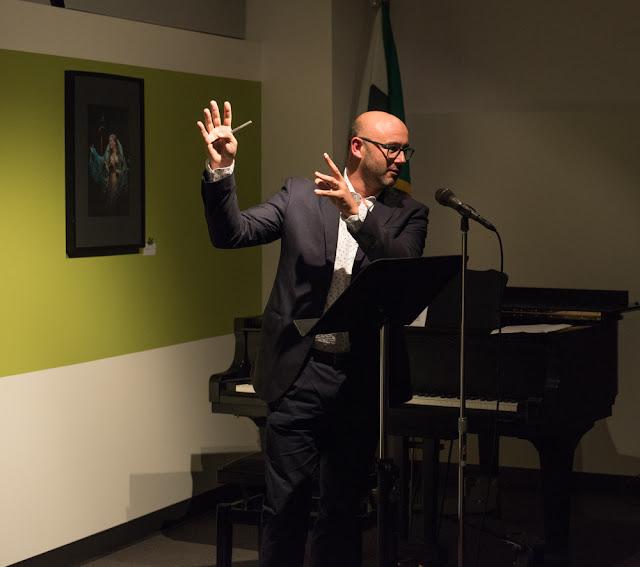 Maestro RICCARDO FRIZZA at Istituto Italiano di Cultura's 'Meet the Maestro' event in San Francisco, 27 August 2018 [Photo © by Flavia Loreto Photography / Istituto Italiano di Cultura; used with permission]