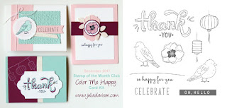 Stampin' Up! Color Me Happy Card Kit for December 2017 Stamp of the Month Club by Julie Davison www.juliedavison.com/clubs