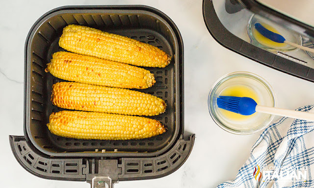 corn in the air fryer cooked