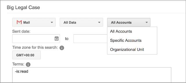 Realice búsquedas en todas las cuentas de un dominio