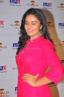 Sree Mukhi in Pink Kurti looks beautiful at Meet and Greet Session at Max Store (46).JPG