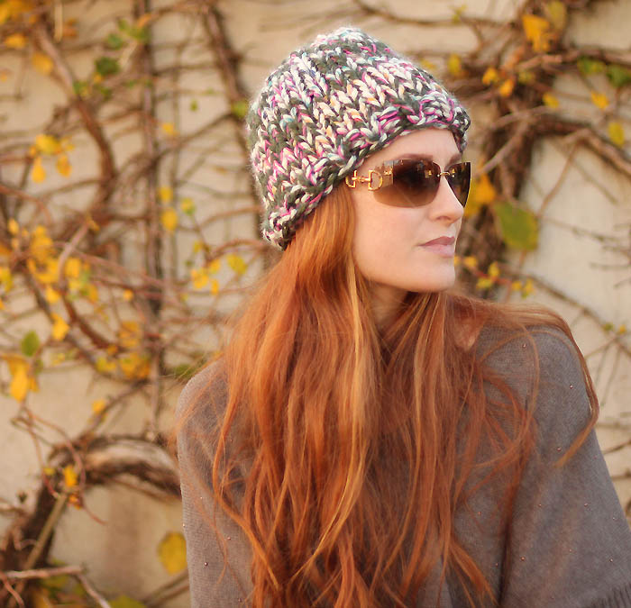 Triple Knit Hat the Warmest Hat Ever free knitting pattern