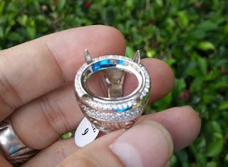 Ring Perak Hongkong 925 PRK037 Mewah With Zircon Murah