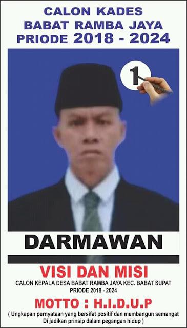 Darmawan Siap Mengabdi di Desa Babat Ramba Jaya